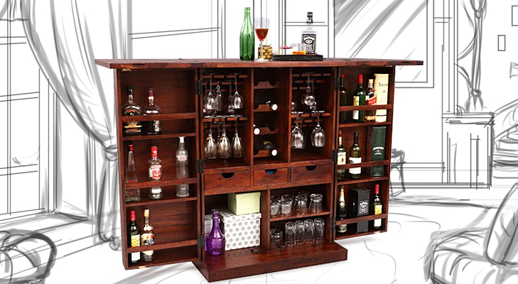 bar cabinet @TheRoyaleIndia