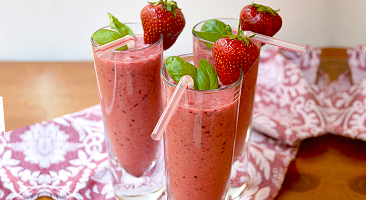 Cherry-Berry Tea Smoothies Recipe — Dishmaps