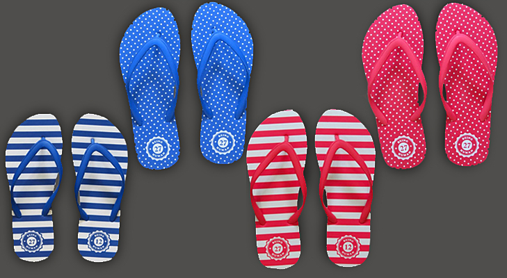 dotted and nautical inspired slippers @TheRoyaleIndia