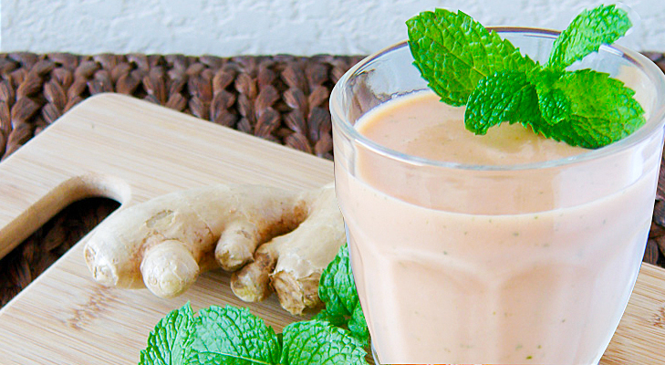 mint ginger papaya smoothie