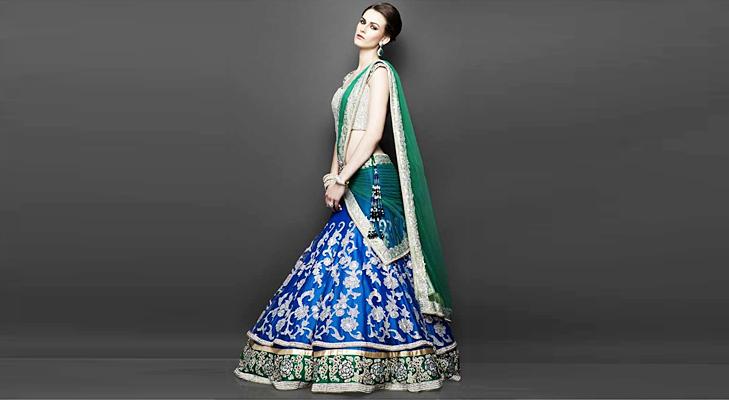 Blue Bridal Wear @TheRoyaleIndia