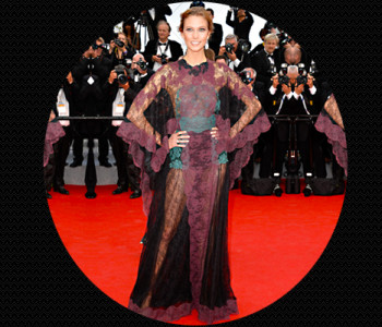 Karlie Kloss wearing the sheer statement gown from Valentino @TheRoyaleIndia