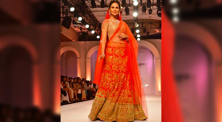 Orange Bridal Wear @TheRoyaleIndia