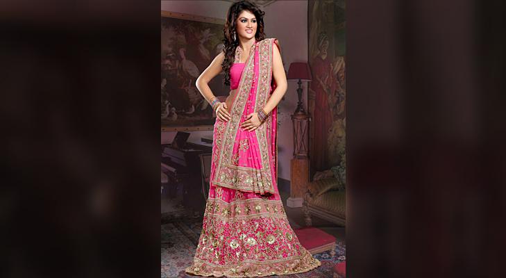 pink bridal wear @TheRoyaleIndia