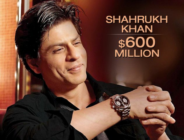 Shahrukh Khan ranks as the second richest celeb in the world @TheRoyaleIndia