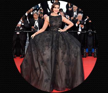 Sonam Kapoor wearing an Elie Saab dress @TheRoyaleIndia