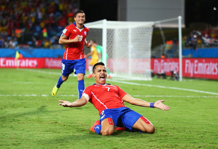 Alexis Sanches Chile Goal scorer FIFA World Cup 2014 @TheRoyaleIndia