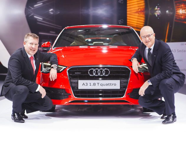 Audi A3 to drive in to India @TheRoyaleIndia