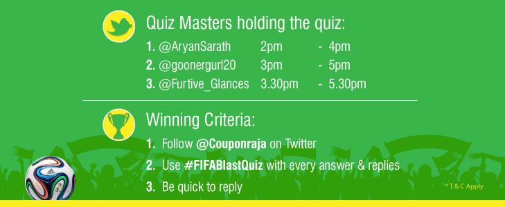 #FifaBlastQuiz Couponraja Twitter Contest