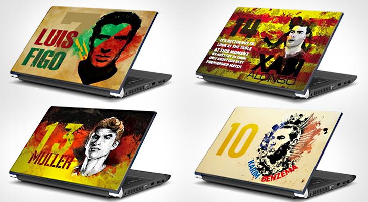 Football Merchandise Laptop Skin @TheRoyaleIndia