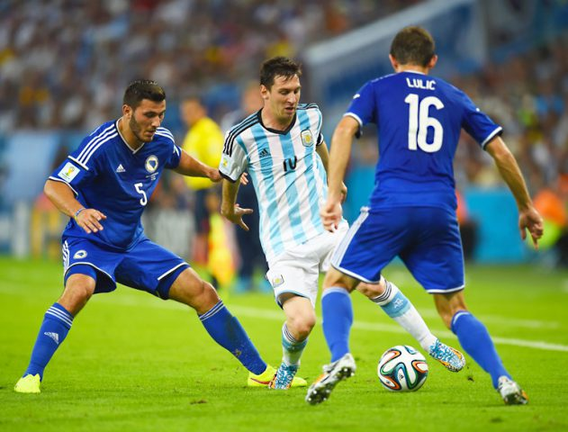 Lionel Messi winning goal against Bosnia @TheRoyaleIndia