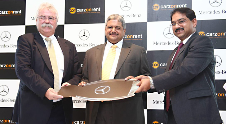 mercendez benz & carzonrent initiative @TheRoyaleIndia