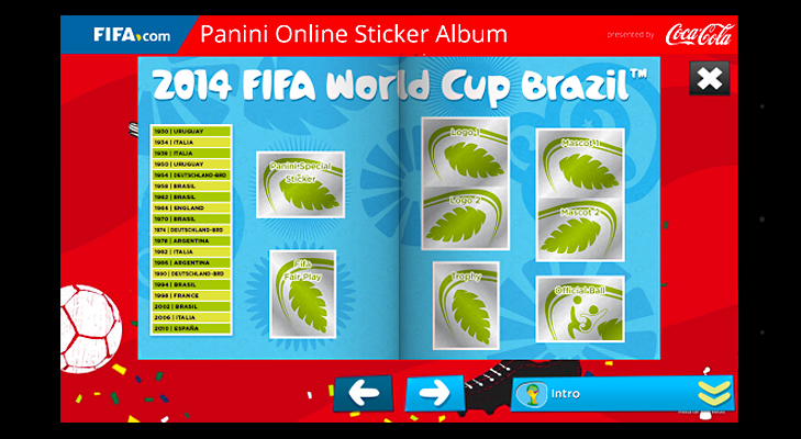 Panini Online Sticker Album @TheRoyaleIndia