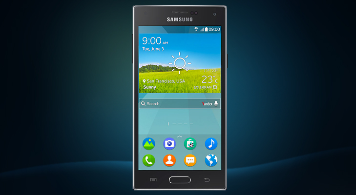 Samsung Z Front Black @TheRoyaleIndia