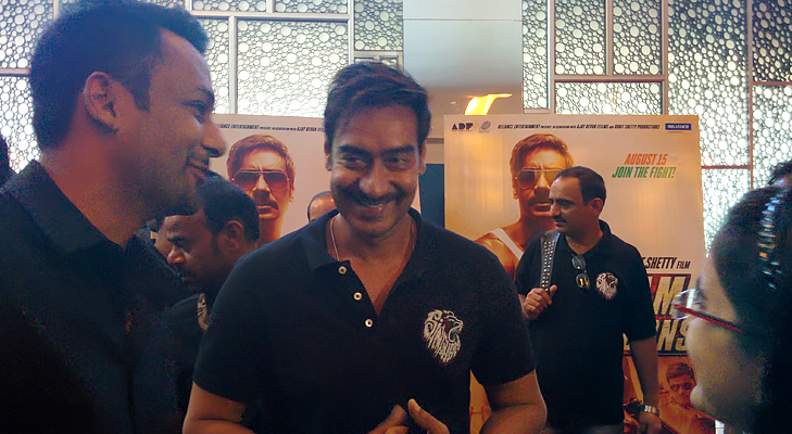 ajay at singham returns trailer launch @TheRoyaleIndia