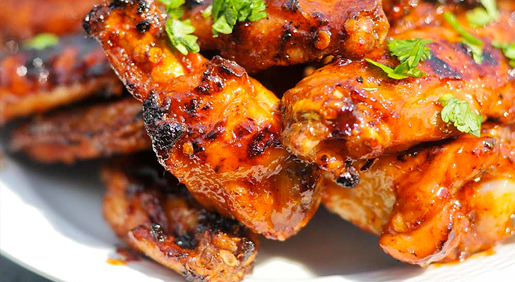 Baked Honey Hot Chicken Wings @TheRoyaleIndia