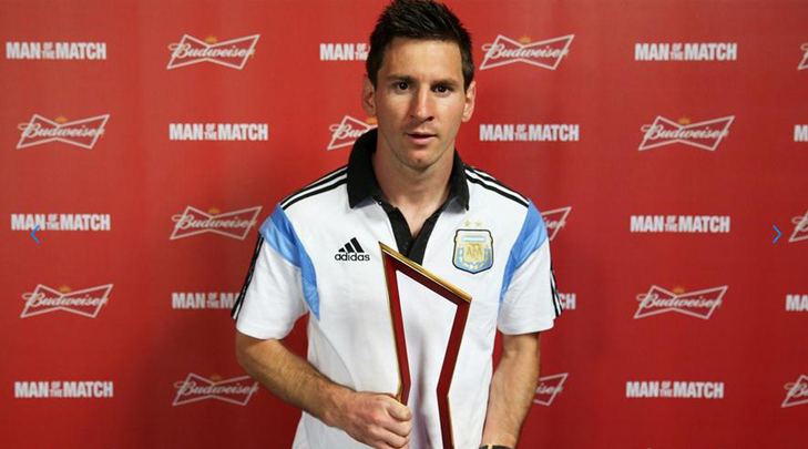 messi man of the match @TheRoyaleIndia