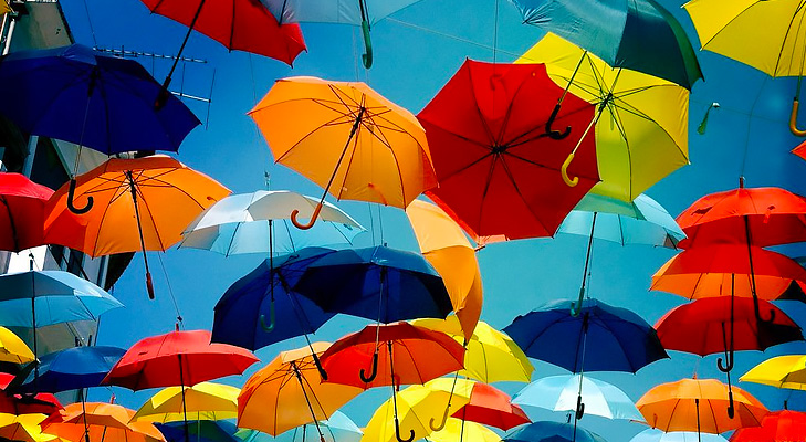 three fold umbrellas @TheRoyaleIndia