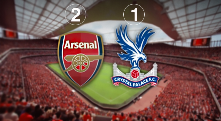 Arsenal 2 Crystal Palace 1 @TheRoyaleIndia
