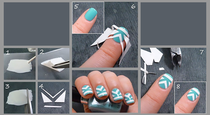 Blue and white nail art DIY argentina @TheRoyaleIndia