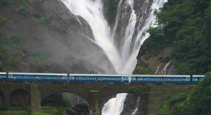 Dudhsagar Falls on Mandovi River is a perfect monsoon getaway @TheRoyaleIndia