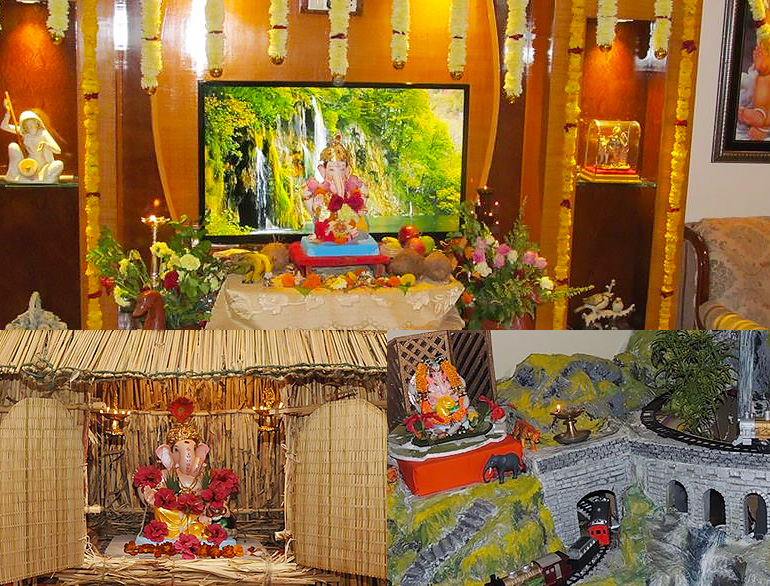 Eco friendly home decoration for ganesha the royale for Decorations of ganpati for home