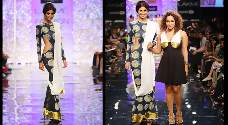 masaba gupta and shilpa shetty lfw 2014 @TheRoyaleIndia
