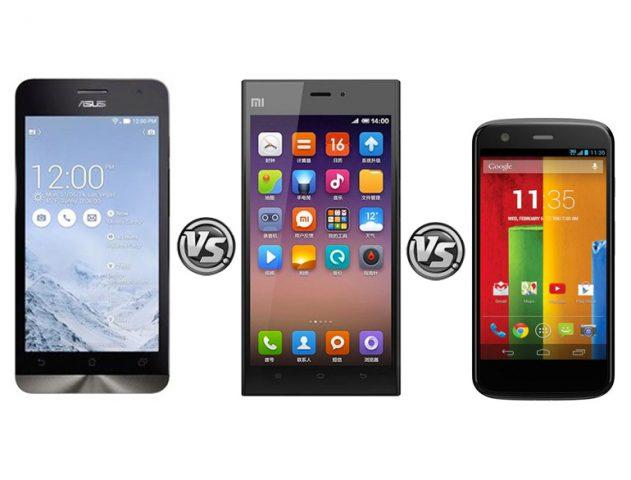 Moto G Vs ZenFone 5 Vs Xiaomi Mi 3 @TheRoyaleIndia