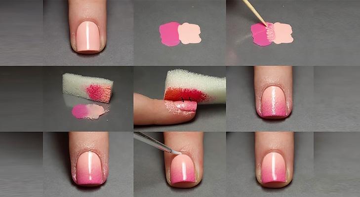 pink nude nail art DIY @TheRoyaleIndia
