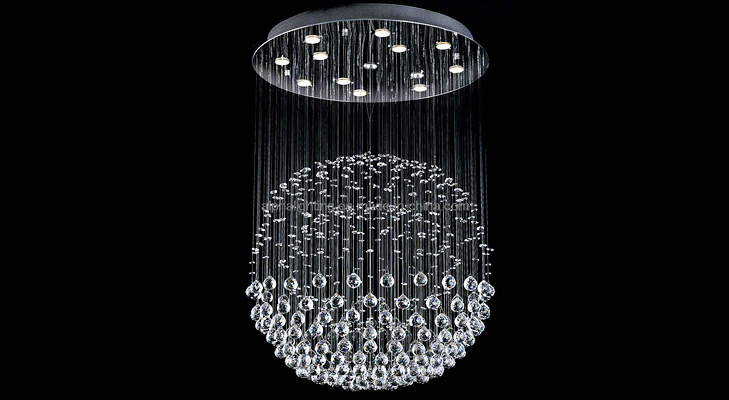 bling home decor ideas crystal chandelier @TheRoyaleIndia