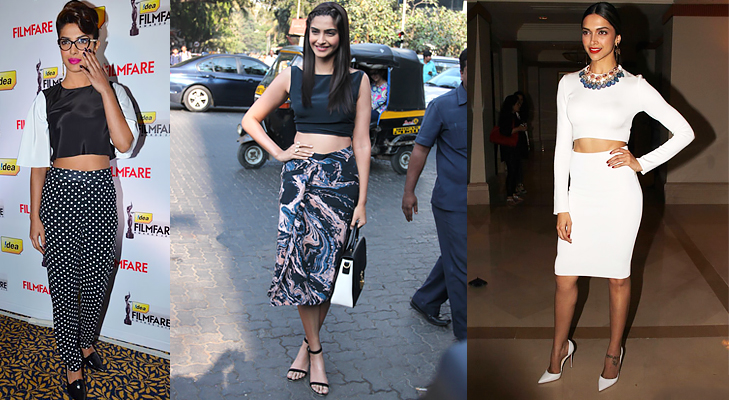 bollywood beauties crop top @TheRoyaleIndia