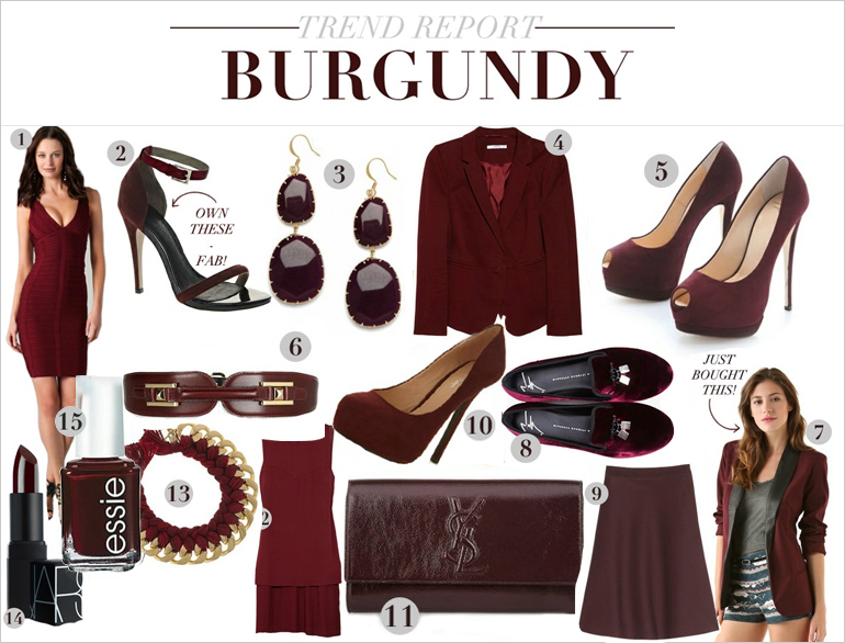 Burgundy is the New Black @TheRoyaleIndia