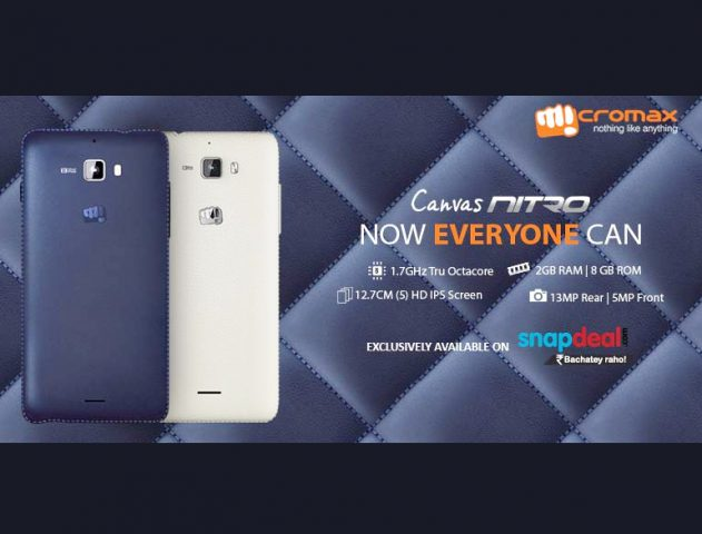 Micromax Canvas Nitro - Android-One phone to hit Indian market today @TheRoyaleIndia