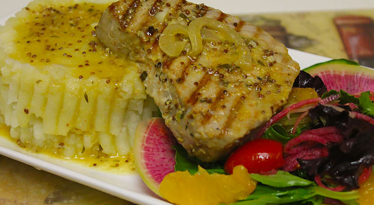 mustard grilled tuna @TheRoyaleIndia