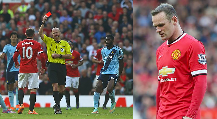 rooney sent off against west ham @TheRoyaleIndia