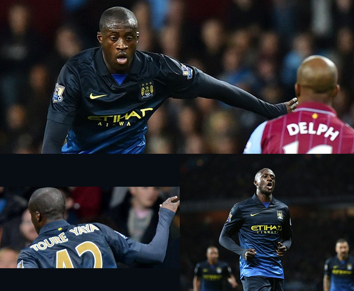 aston villa vs manchester city toure goal @TheRoyaleIndia