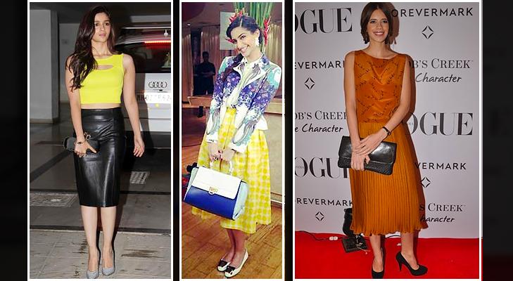 Bollywood midi skirt sonam alia Kalki @TheRoyaleIndia