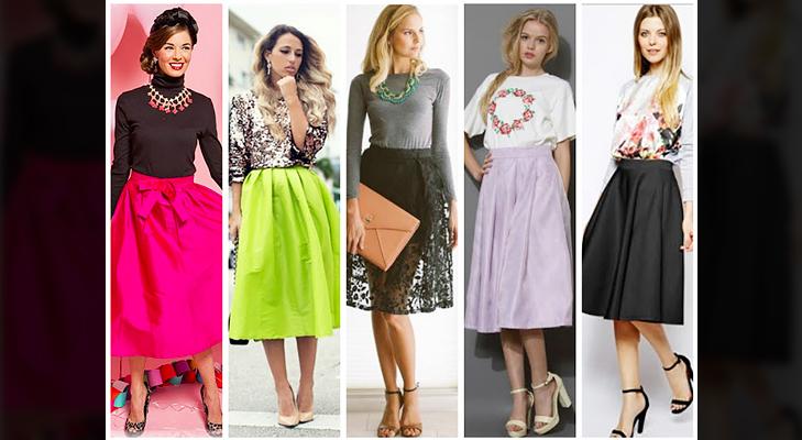 Bright coloured midi skirts @TheRoyaleIndia