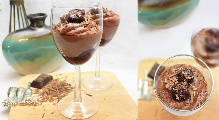 chocolate cherry mousse @TheRoyaleIndia