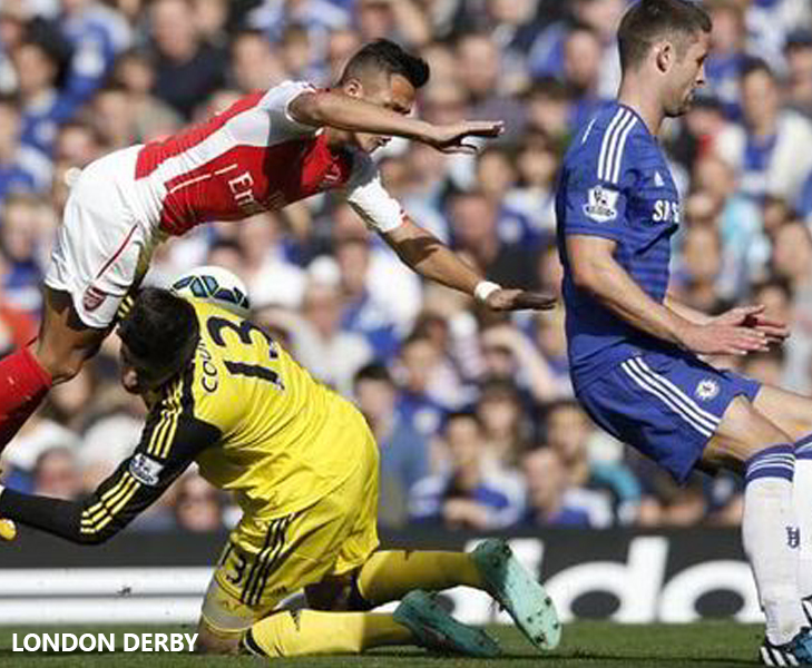 courtois injury vs arsenal 2014 @TheRoyaleIndia