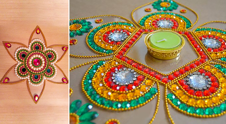 5 diy d cor ideas to brighten up your diwali celebrations for Home made rangoli designs