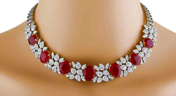 Ruby jewellery @TheRoyaleIndia