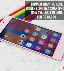 Thinner than the rest – Gionee Elife S5.1 smartphone now available in India for Rs 18,999