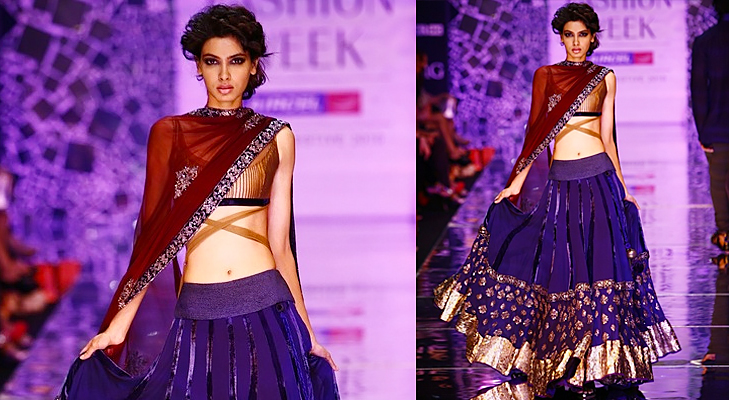 magenta purple bridal wear @TheRoyaleIndia