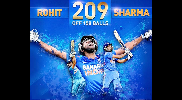 rohit score 209 runs @TheRoyaleIndia