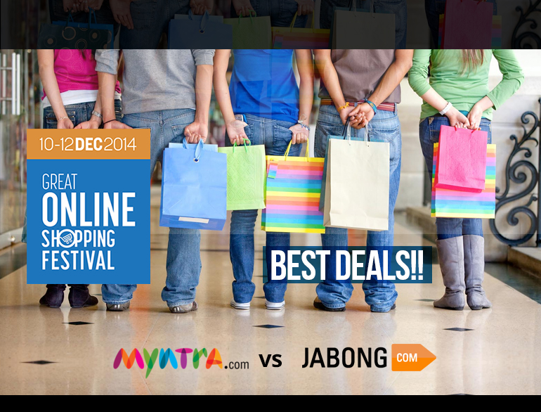 GOSF 2014 - Myntra vs Jabong - The great online shopping battle has begun @TheRoyaleIndia