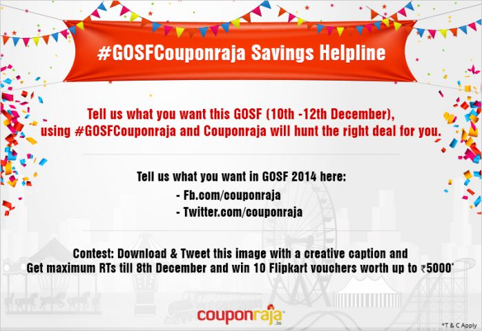 gosf couponraja @TheRoyaleIndia
