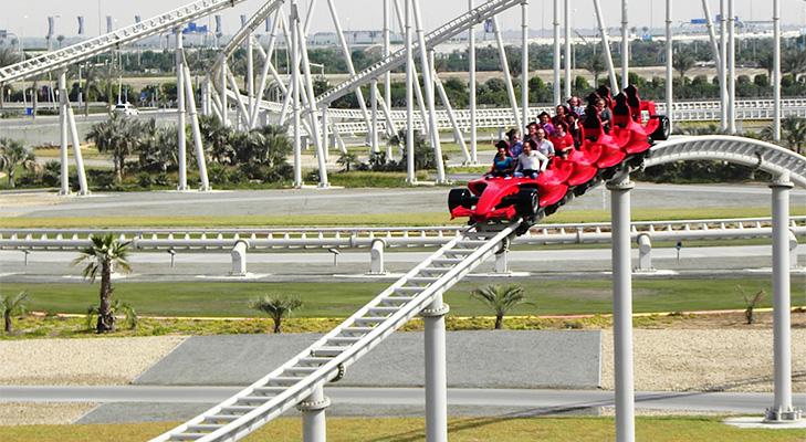 Abu Dhabi Ferrari Roller Coaster @TheRoyaleIndia
