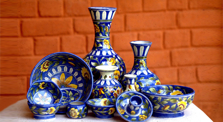 Rajasthani Blue Pottery @TheRoyaleIndia