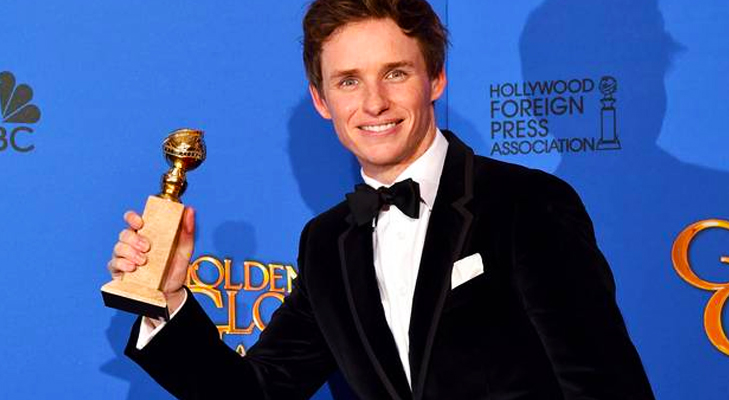 Eddie Redmayne wins Golden Globe for The Theory of Everything @TheRoyaleIndia